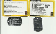 ARMY Values/Soldier's Creed Card With Dog Tag