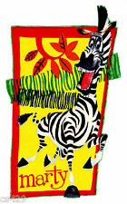 "7"" MADAGASCAR MARTY ZEBRA CHARACTER FABRIC APPLIQUE IRON ON"