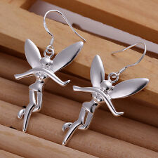 HOT! sterling solid silver fashion jewelry Tinker Bell drop Earrings XUSE193