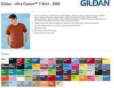 5 Blank Gildan Ultra Cotton T-Shirt Wholesale Bulk Lot ok to mix 2XL-5XL Colors