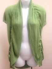Sweet Sinful M Cardigan Green Ruched Open Draped Stretchy Sweater