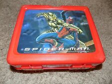 Vintage Spiderman Red Plastic Lunch Box No Thermos