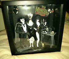 ELVIRA Mistress of the Dark Custom Figure Creations Shadow box Grampa MUNSTERS