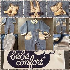 LUXURY BEBE CONFORT ALL IN ONE BABY GROW/SLEEP SUIT ZIPPED FRONT 18 MONTHS 81CM