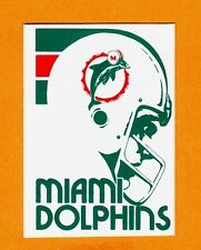 1982 MIAMI DOLPHINS OLD LOGO 4 1/4 inch DECAL STICKER Unused Team Stock