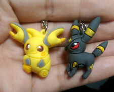 2pcs Set Pokemon Umbreon&Pikachu PVC Figure with Key Ring Chain Pendant toy