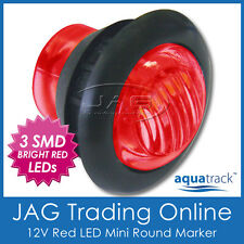 12V 3-SMD LED RED ROUND MARKER/CLEARANCE LAMP PILOT LIGHT - Trailer/Truck/Boat