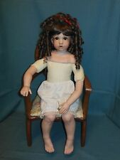 "OOAK HANDMADE 24"" PORCELAIN DOLL (HEAD,SHOULDER PLATE, ARMS,LEGS) FABRIC BODY"