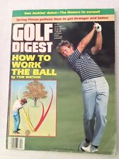 Golf Digest Magazine How To Work The Ball Tom Watson April 1985 020717RH