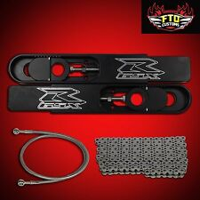 "2005 GSXR 750 Swingarm Extensions Kit 12"" Stretch,Chain & 36"" Brake Line"