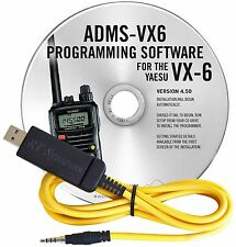 YAESU ADMS-VX6-USB SOFTWARE & CABLE FOR VX-6/USB
