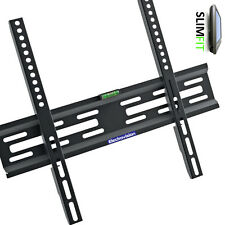 "Slim TV Mount Wall Bracket Flat Fixed LCD LED PLASMA For 30""-55"" Universal fit"