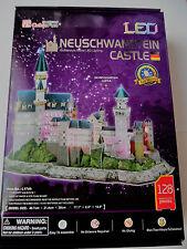 3D Puzzle Schloss Neuschwanstein LED Cubic Fun Castle Light Licht Germany