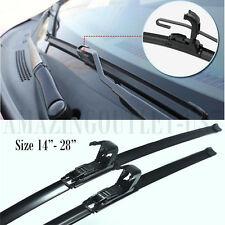 "All Season 18""& 21"" U/J Hook Bracketless Soft Rubber Wiper Windshield Rain Blade"