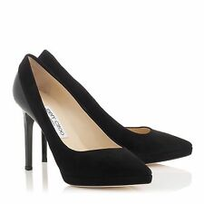 Jimmy Choo | Rudy | Black Suede / Patent | UK 6 | EU 39 | RRP £475 | High Heels