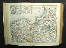 1893.Mappa Geografica dell'EST E OVEST PRUSSIA..DANZICA..MEYERS Scala 1:1700000