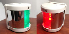MARINE BOAT GREEN STARBOARD AND RED PORT SIDE LED NAVIGATION LIGHT - WHITE
