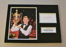 Stephen Hendry Signed 16x12 Snooker Photo Autograph Memorabilia Display + COA