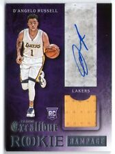 D'ANGELO RUSSELL 2015 PANINI EXCALIBUR ROOKIE AUTO AUTOGRAPH RC JERSEY CARD!