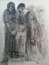 Lithographie orig Henry de Groux sign/n° 1èr Guerre Mondiale 14-18 Poilu