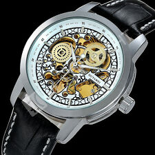 Classic Steampunk Men's Skeleton Dial Automatic Mechanical Quartz Wrist Watch