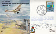 1st British Sqn Night Bombing 100 Sqdn 1917 Signed L Carruthers USA WW1 Pilot Ve