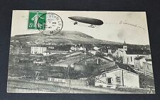 CPA 1913 AVIATION MILITAIRE DIRIGEABLE