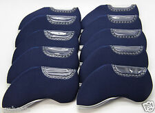 NEW 10pcs Golf Iron Headcover LEFT HANDED Fit TaylorMade Callaway Ping Nike BLUE