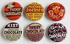 Chocolate Soda FRIDGE MAGNET Set (1.25 inches each) sign milk