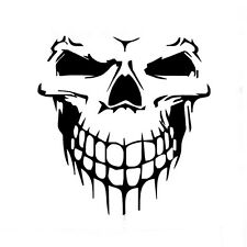 Universal 1Pcs Black Fashion Vinyl Skull Skeleton Decal Sticker For Car Auto SUV