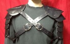 Black Leather Shoulder Armor SCA Faire Sword Pirate Medieval Celtic Viking