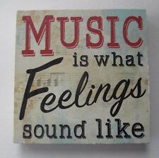 t Music is what feelings sound like MUSIC & DANCE refrigerator magnet