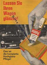 KÖLN, Prospekt 1958, Siegel-Werke Polifac Defroster, Hartwachs, Chrompflege, Tee