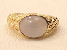 Estate 10K Yellow Gold Designer DIL Chalcedony Ring 5.3g