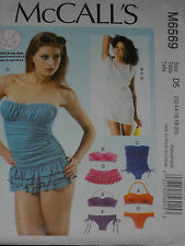 Misses Top Bikini Swimsuit  Cover up size 12-20  McCalls 6569 Sewing Pattern