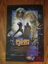 EMBOSSED METAL DECOR* STAR WARS space film episode RETURN OF THE JEDI yoda movie