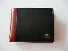 Geldbörse - Edelmarke Brown Bear - Nappaleder -  Farbe: schwarz/braun,  NEU