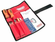 "Oregon 5/32"" 4mm Quality Chainsaw Chain Filing Kit In Tool Roll Pouch 558488"