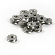 50pcs 3*12*4mm Metal V Groove Guide Pulley Rail Ball Bearings Wheel