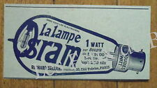 Publicité ancienne Lampe Osram Richard Heller    1909