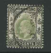 Hong Kong SG70 1903 30c dull green and black Used