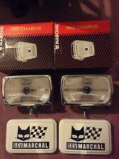 2 New Marchal 950 Truck Fog Lamps / Driving Lights With Covers NOS
