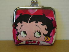 BETTY BOOP COIN PURSE  #05 HEARTS DESIGN RED & WHITE