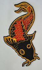 Japanese koi carp fish Embroidered Cloth Iron On Patch