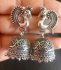 Antique Silver Plated Designer Indian weeding Party Earrings Jhumka  Set a