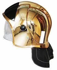 """Rescue Helmet Fire Fighter . Metallized coating """"Gold"""" . Protective Glasses"""