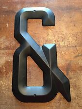 """NOS USA Vintage METAL LETTER """"&"""" """"AND"""" """"Ampersand"""" Wall Art Marquee Sign Black"""