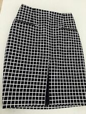 CAMEO WOMENS SKIRT STRAIGHT LINED CHECK SEXY WORK PARTY BLACK SHITE SZ S