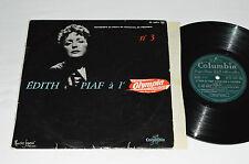"""EDITH PIAF A l'Olympia No. 3 10"""" Vinyl Album LP 33rpm Columbia France FS 1075"""