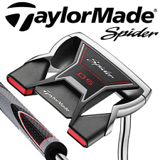 """LEFT HAND"" TAYLORMADE OS SPIDER 34"" PUTTER + SUPERSTROKE GRIP & HEADCOVER"